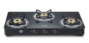 Prestige Auto Ignition 3 Burner Gas Stove